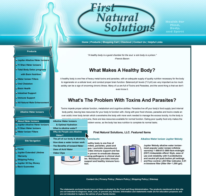 first natural solutions
